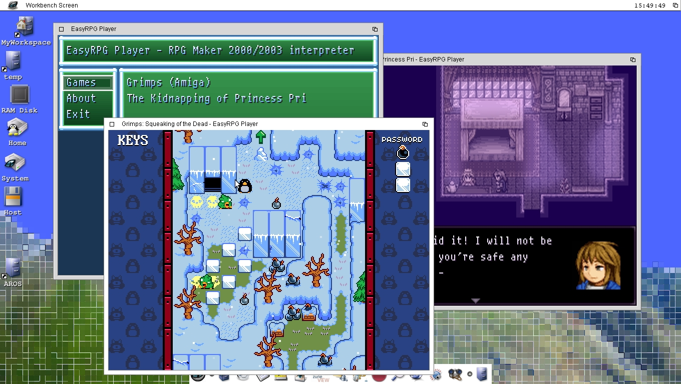 What you need is EasyRPG - Icaros Desktop