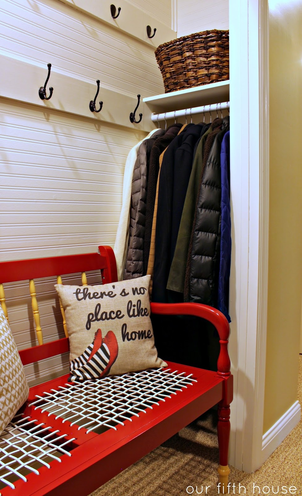 Mudroom In A Closet