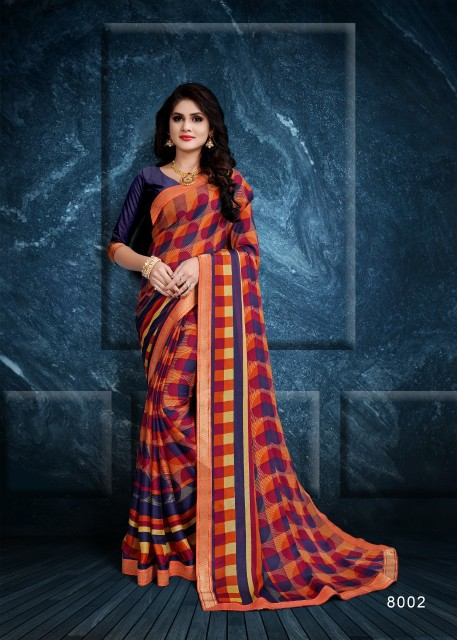 6d3ac8a035 Kodas Corzetti Chiffon printed daily wear Saree catalog wholesaler ...