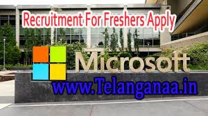 Microsoft Recruitment 2016-2019 For Freshers Apply