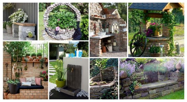 30+ Πέτρινες Κατασκευές για κήπους - αυλές