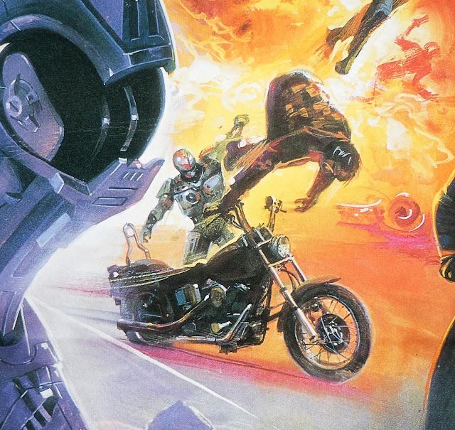Thai movie poster for Robocop 2 by Irvin Kershner
