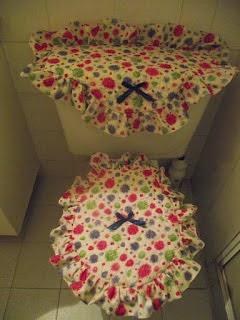 jogo de banheiro feito em tecido