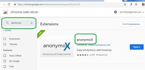 Cara #3 Menembus Internet Positif Pada Google Chrome Memakai Anonymox