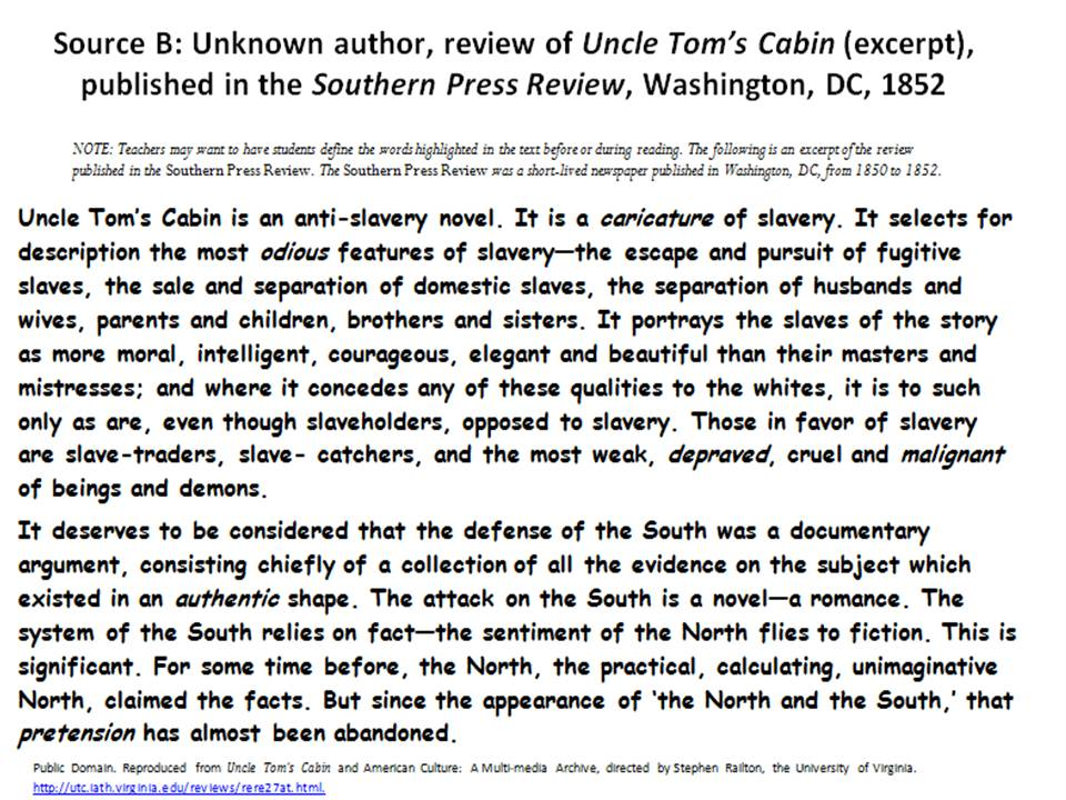 uncle toms cabin the fugitive slave act Stowe wrote uncle tom's cabin to encourage citizens to disobey what she took to be an unchristian law and to engage white parents, many of whom, she knew, had lost a child, in the deep question of what a slave parent feels.