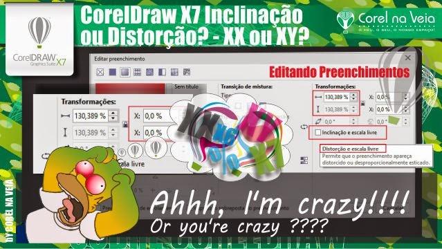 CorelDraw X7 Inclinação ou Distorção