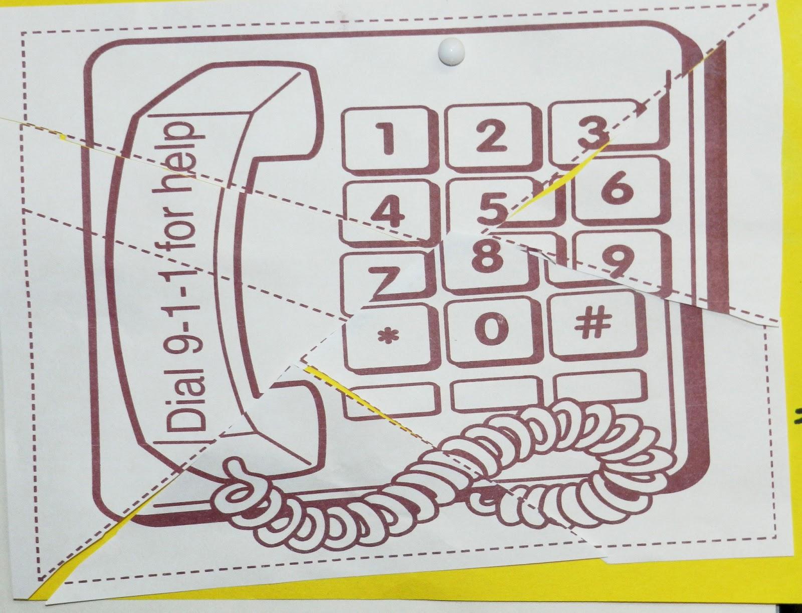 Calling 911 Worksheet For Preschool