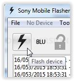 start flash sony xperia device