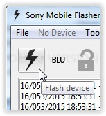 start flash sony xperia device