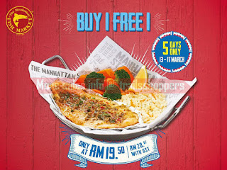 The Manhattan FISH MARKET Buy 1 FREE 1 Promotion 2017