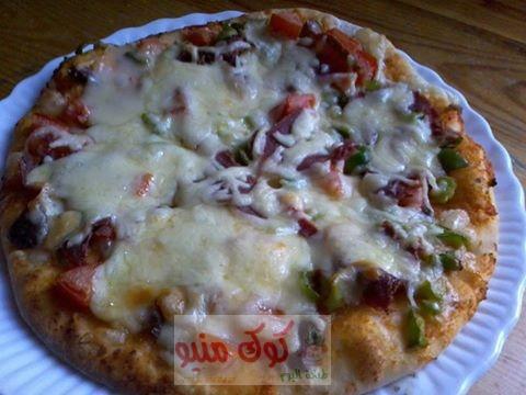 وصفة البيتزا الشهيه