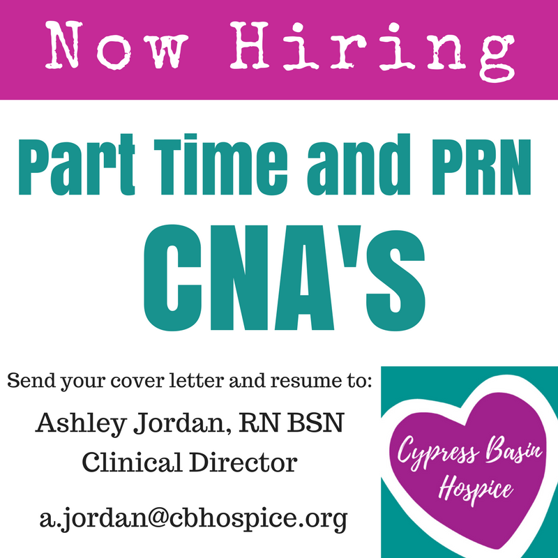 Mount Pleasant For Real: CNAs needed