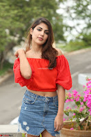 Rhea Chakraborty in Red Crop Top and Denim Shorts Spicy Pics ~  Exclusive 076.JPG