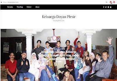 Travel Blog Keluarga Doyan Plesir Menggunakan WordPress Hosting
