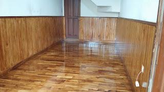 Lantai kayu pasang