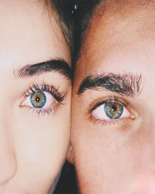 foto tumblr de ojos en pareja