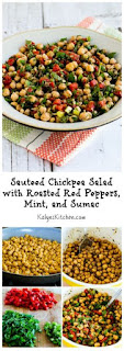 Sauteed Chickpea Salad with Roasted Red Peppers, Mint, and Sumac [from KalynsKitchen.com]