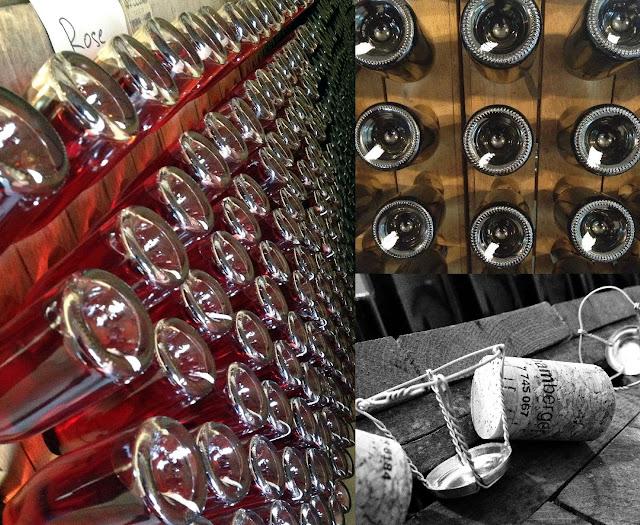 Rüttelpulte für die Sektherstellung im Wein- und Sektgut Bamberger