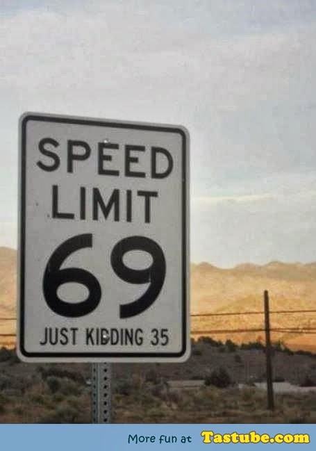 Funny 69 sign