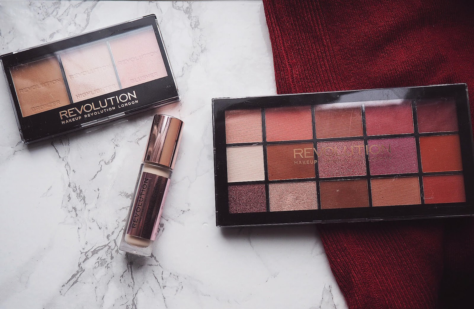 First Impressions: Makeup Revolution Concealer, Eyeshadow Palette & Contour Kit