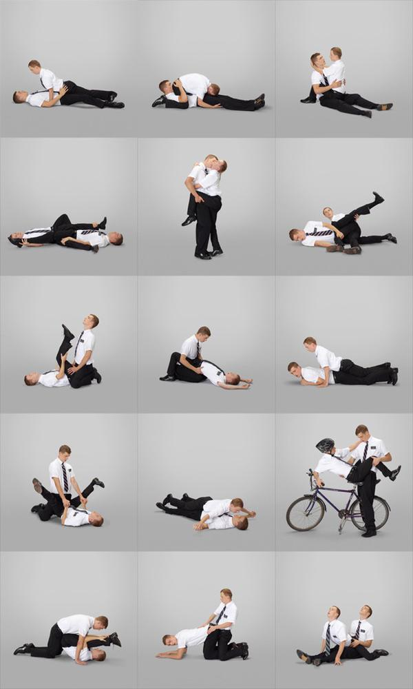 Funny Religion - Mormon Missionary Positions Picture