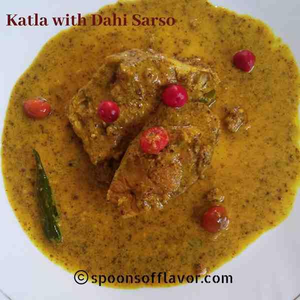 Katla Fish with Dahi Sarso Recipe