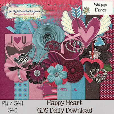Happy Heart Daily Download Kit from Whispy