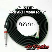 Kabel gitar 3 meter jack akai mono to akai mono ' L '
