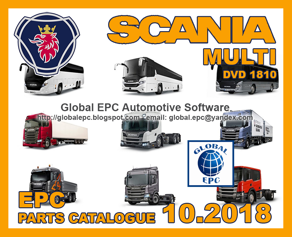 GLOBAL EPC AUTOMOTIVE SOFTWARE: SCANIA MULTI 10 2018