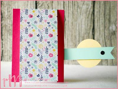 Stampin' Up! rosa Mädchen Kulmbach: Fun Fold Card zum Geburtstag mit Perfekter Geburtstag