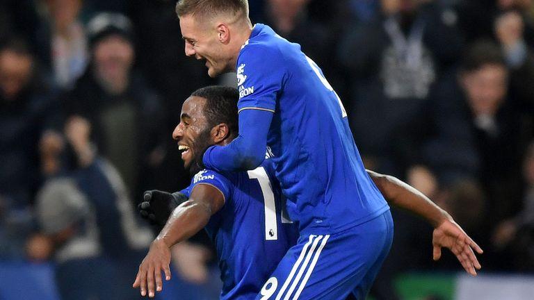 Jamie Vardy and Ricardo Pereira Leicester City Vs Manchester City