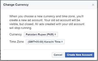 How to change your Facebook ads currency to Local Currency
