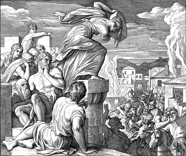 A nameless woman slays Abimelech