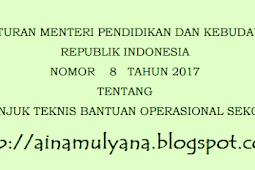 Permendikbud No 8 [Tahun] 2017 (Tentang) Juknis BOS [Tahun] 2017 untuk SD SMP SMA & SMK