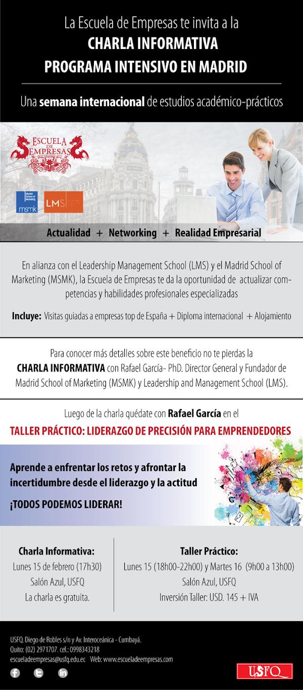 ¿Eres ALUMNI de la Escuela de Empresas? ¡APLICA A UN PROGRAMA INTENSIVO EN MADRID!