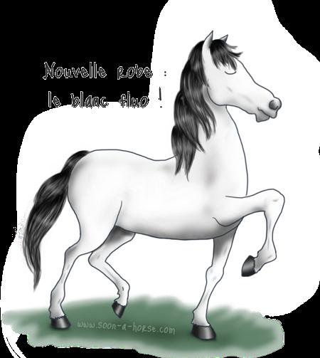 Comment avoir un cheval «blanc fluo» ?