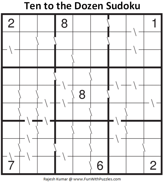 Ten to the Dozen Sudoku Puzzle (Fun With Sudoku #344)