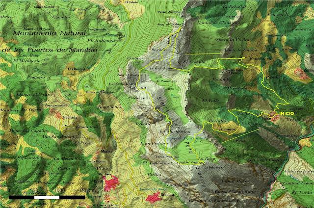 Mapa Sierra de Peña Gradura