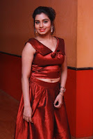 Tamil Actress Anisha Xavier Pos in Red Dress at Pichuva Kaththi Tamil Movie Audio Launch  0010.JPG