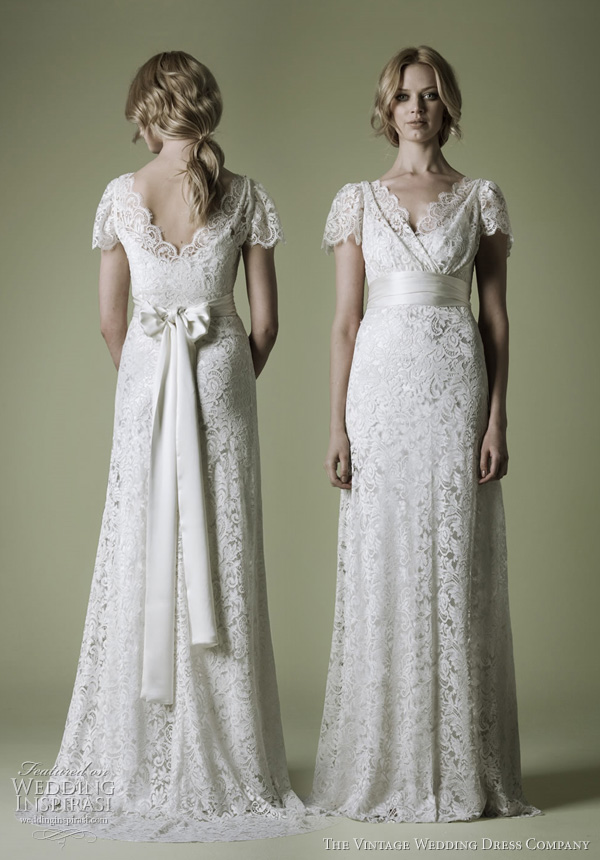 Simple vintage wedding Dresses
