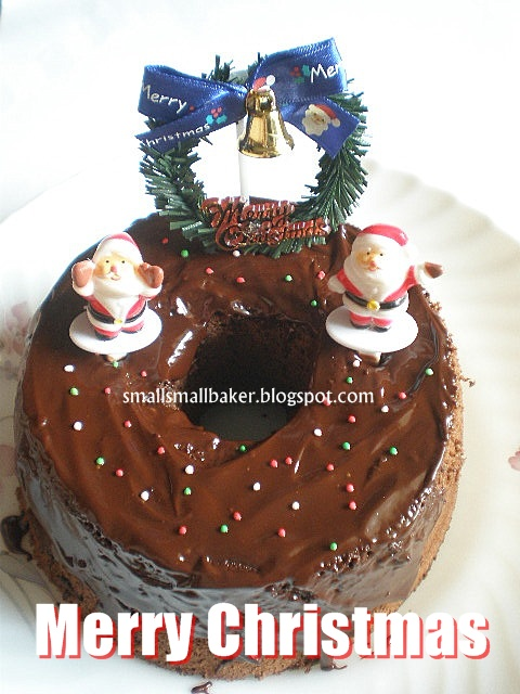 Small Small Baker Christmas Chocolate Chiffon Cake