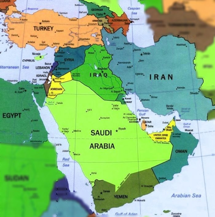 Cartina Geografica Dei Paesi Arabi.Orme E Nuvole Medio Oriente Svelato