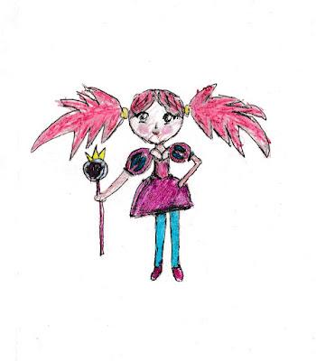 детский рисунок девочка - Конфетка из Волшебной страны конфет, 100 дней - 100 рисунков