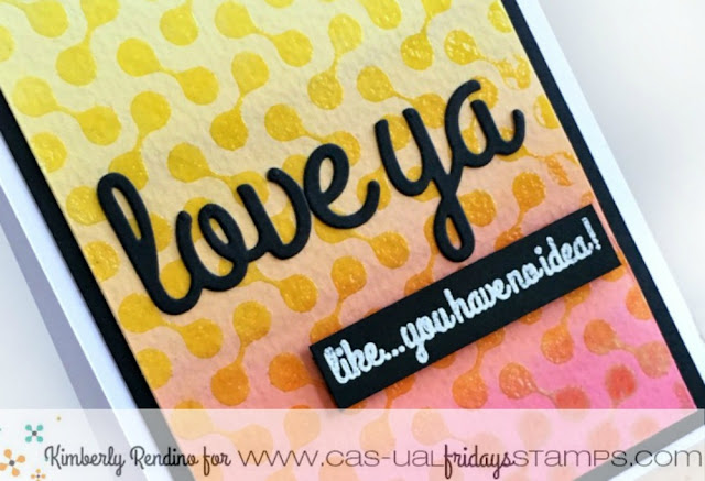 CAS-ual Fridays Stamps | Distress Ink | friendship | handmade card | heat embossing | kimpletekreativity.blogspot.com