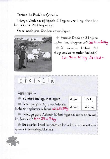 2. Sınıf Açılım Yayınları Matematik Ders Kitabı 172. Sayfa Cevapları
