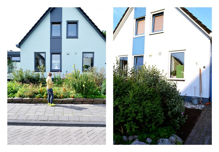 Frivole before and after white and mint blue and grey for Woning schilderen