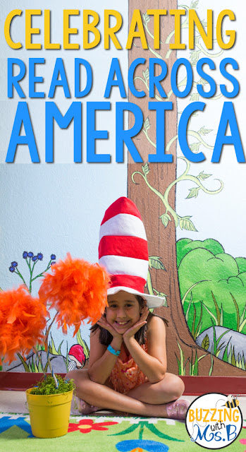 Celebrate Read Across America with these fun Seuss-themed ideas and activities! The entire week is chock full of events and tasty snacks and treats! Check out the cute bulletin boards and decorations we used to celebrate this fun week such as Seuss signposts and truffula trees!