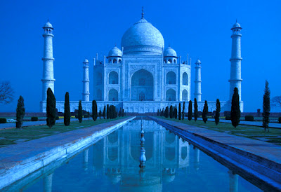 At Taj Mahal Moonlight