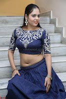 Ruchi Pandey in Blue Embrodiery Choli ghagra at Idem Deyyam music launch ~ Celebrities Exclusive Galleries 043.JPG