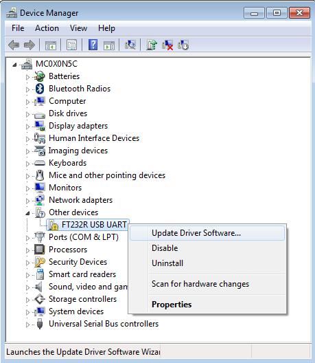mattnett: How to setup the FTDI FT232RL USB to TTL Converter?